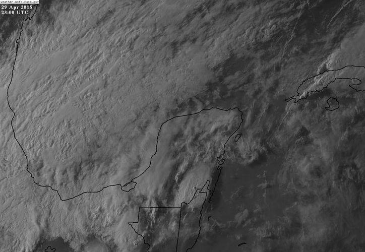 El frente frío 49 se ubica este miércoles en el occidente de Yucatán. (Conagua)