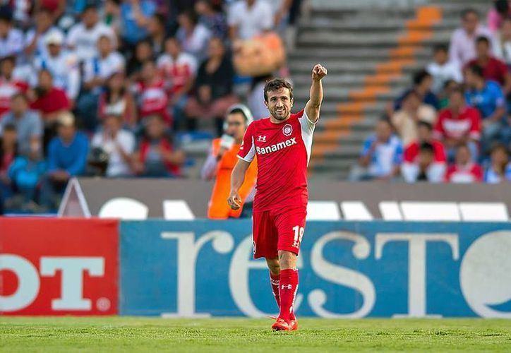 Jerónimo Amione fue el autor del gol que dio el triunfo al Toluca sobre el Puebla en la jornada 12 del Clausura 2015. (Facebook/Deportivo Toluca Futbol Club)
