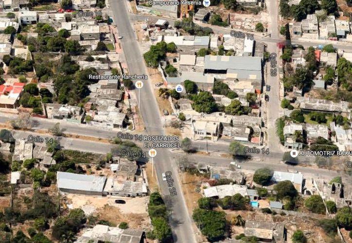 Un homicidio ocurrió en la calle 25 de la colonia Benito Juárez Oriente, en Mérida. Este lunes se detuvo a una persona, acusada del homicidio. (Google Maps)