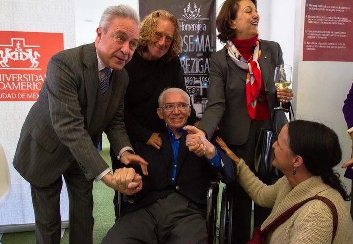 José María Pérez Gay recibió en diciembre de 2012 un homenaje en la Universidad Iberoamericana. (Notimex)
