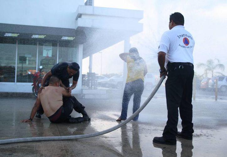 El incidente dejó como saldo cuatro personas afectadas por picaduras, dos fueron hospitalizadas. (Octavio Martínez/SIPSE)