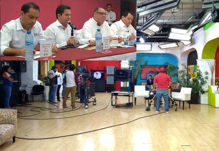 Las instalaciones de SIPSE Televisión fueron elegidas para realizar el encuentro entre candidatos, el próximo dos de mayo. (SIPSE)