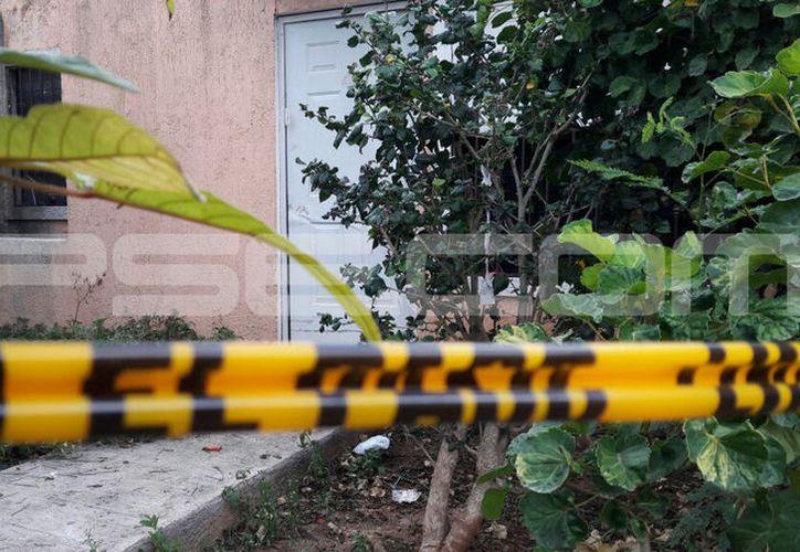 La vivienda donde la madrugada de este sábado ocurrió la tragedia. (SIPSE)