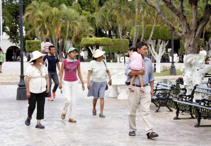 Al mediodía de ayer la temperatura en Mérida era de unos 34 grados centígrados. (SIPSE)