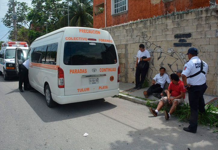 Ninguno de los pasajeros necesitó traslado a un hospital. (Redacción/SIPSE)