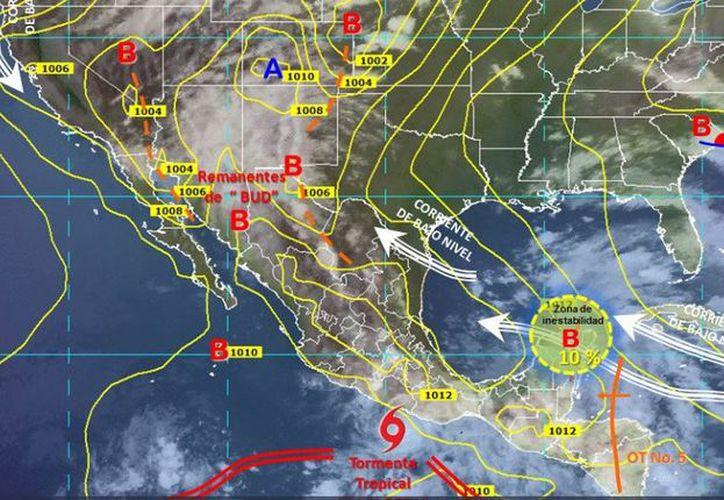 El sistema se ubica a 80 kilómetros al oeste de Cancún, Quintana Roo. (Redacción)
