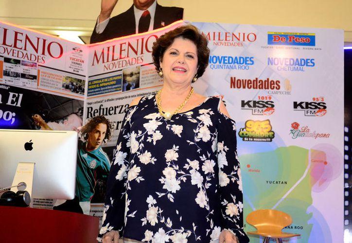 """Alis García, titular del programa """"Salvemos una vida"""", comentó que las personas deben buscar la felicidad en la vida.(Daniel Sandoval/Milenio Novedades)"""