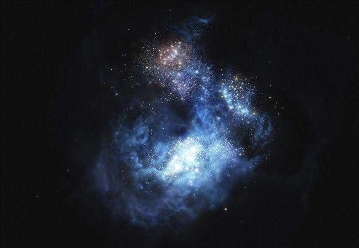 La galaxia CR7, muestra señales  de las primeras estrellas formadas por el bing bang, el nombre de esta galaxia Hace alusión a Cristiano Ronaldo, pero abrevia Cosmos Redshift 7.(Efe)