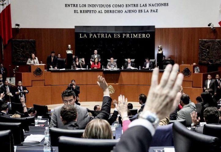 La fracción parlamentaria del PAN estuvo ausente durante la discusión. (Notimex)