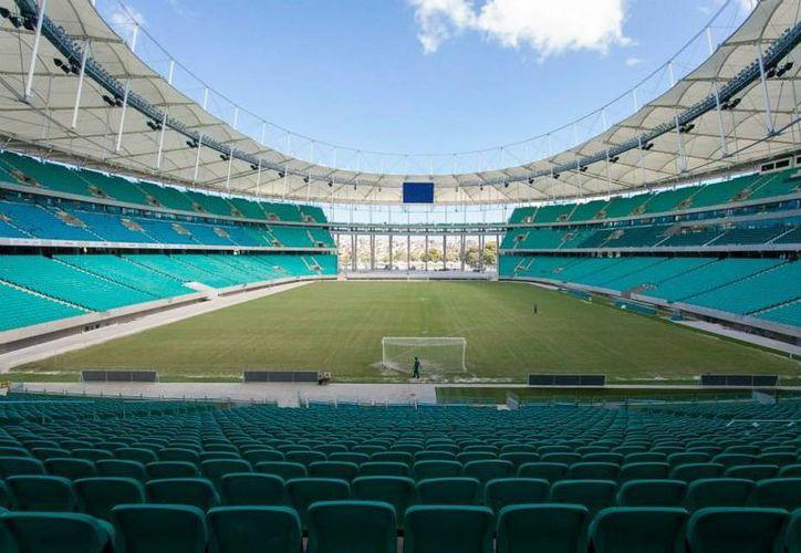 El estadio de Fonte Nova (Salvador de Bahía), testigo del encuentro entre España y Holanda, tiene una capacidad para 55,000 espectadores.  (FIFA)