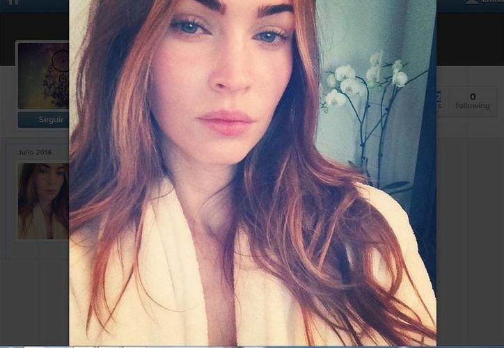 """""""Primera selfie de IG. Temprano en la mañana ✔ sin maquillaje ✔ filtro✔✔"""", escribió Megan Fox, utilizando el seudónimo the_native_tiger. (Instagram/the_native_tiger)"""