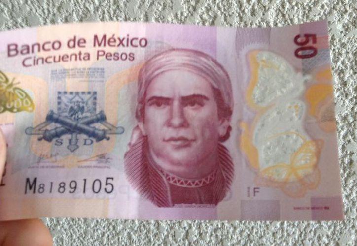 Encuesta reveló que el billete que más se falsifica en México, es el de 50 pesos. (Foto: Internet).
