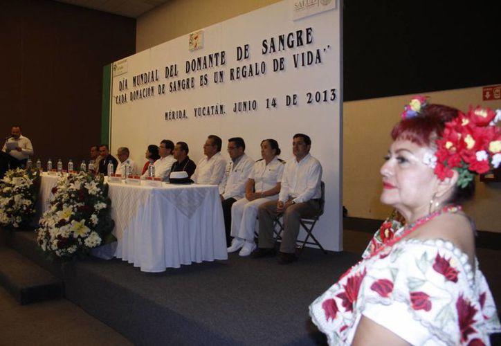 El acto conmemorativo el Día mundial del donante de sangre en Yucatán. (Juan Albornoz/SIPSE)
