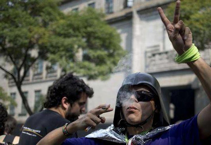 La legalización de la marihuana en México es un tema que será discutido por expertos, ciudadanía y legisladores. Esto afirmó el secretario de gobernación, Miguel Ángel Osorio Chong, al afirmar que el debate sobre este tema iniciará en breve. (AP)