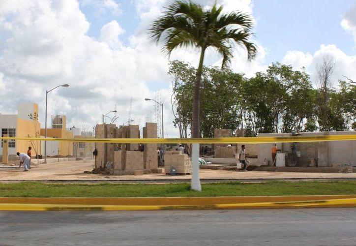 La zona habitacional tiene en proceso de construcción una nueva etapa. (Adrián Barreto/SIPSE)