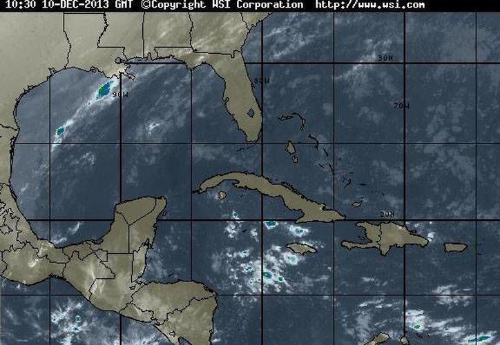 Persistirá la entrada de aire marítimo tropical con moderado contenido de humedad procedente del Golfo de México y mar Caribe hacia la Península de Yucatán (Foto/ww.wsi.com)