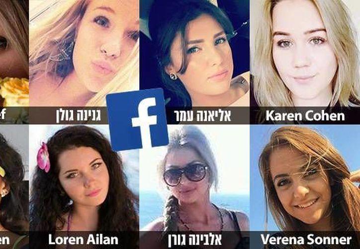Imagen de algunos de los perfiles que Israel asegura que Hamas usa para contactar a los soldados hebreros. (IDF Spokesperson's Unit)