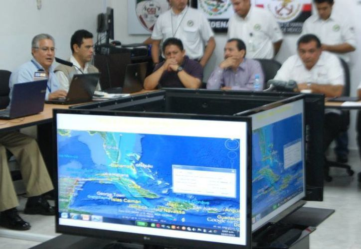 Imagen del simulacro de huracán que ayer concluyó en Yucatán. (SIPSE)