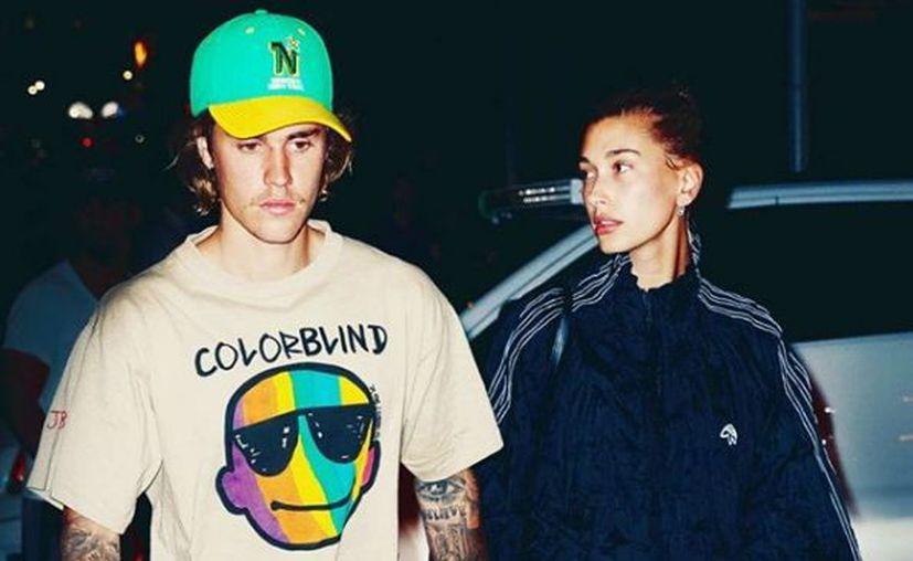 Justin Bieber y Hailey Baldwin asistieron a un partido de hockey en Canadá. (Instagram)