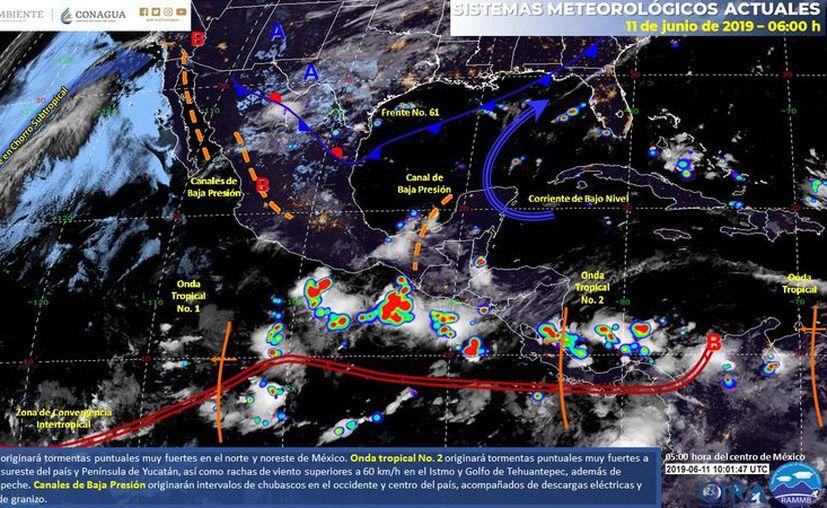 Se espera cielo nublado y la posibilidad de tormentas por la madrugada. (Servicio Meteorológico Nacional)