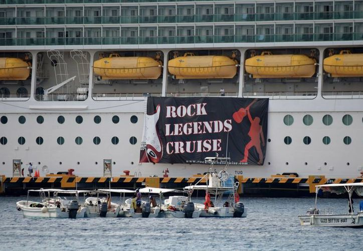 Esta es la quinta edición del Rock Legends Cruise. (Gustavo Villegas/ SIPSE)
