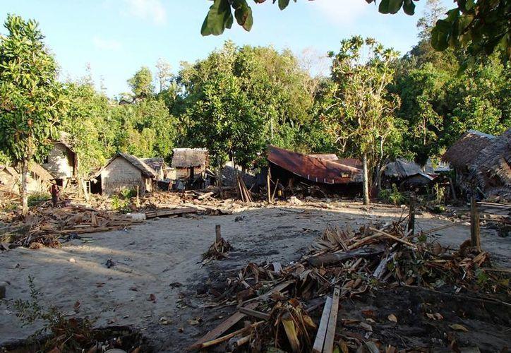 Varias aldeas fueron destruidas en su totalidad. (Agencias)