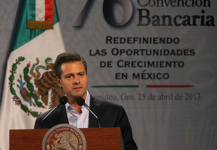 El mandatario presidió los trabajos de la 76 Convención Nacional Bancaria en Acapulco. (presidencia.gob.mx)