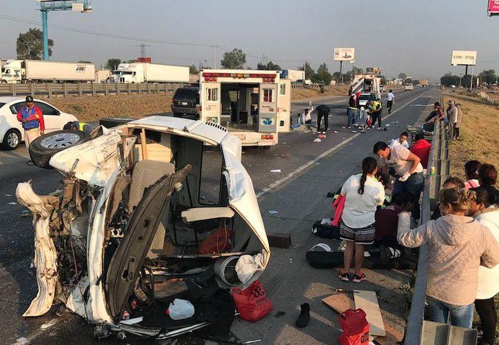 El accidente no dejó heridos con consecuencias fatales hasta el momento.  (Foto: Rotativo)