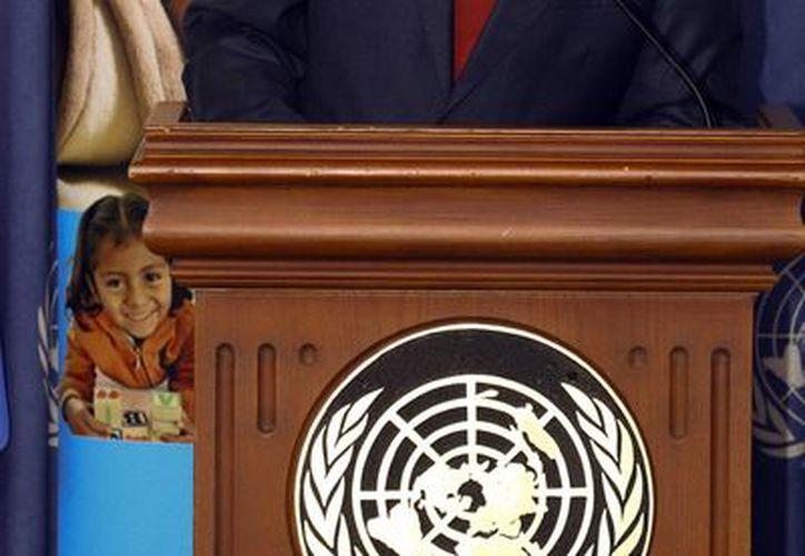 El representante de UNICEF México, Javier Álvarez, durante la presentación de la página web sobre Desarrollo Infantil Temprano. (Notimex)