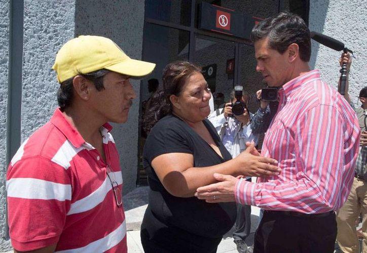 El presidente Enrique Peña Nieto se comprometió con la familia del menor Héctor Alejandro seguir de cerca la investigación. (presidencia.gob.mx)