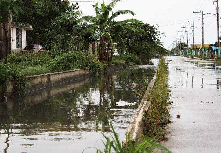 Las lluvias del fin de semana dejaron encharcamientos en diversos puntos de Chetumal. (Ángel Castilla/SIPSE)