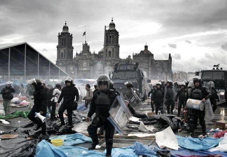 Al finalizar la protesta, esta fue una de las fotos más compartidas.