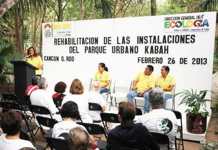 Se invertirán  aproximadamente 110 mil pesos en la rehabilitación, dijo la directora de Ecología. (Cortesía/SIPSE)