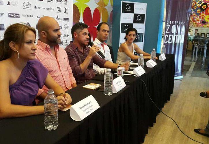 Integrantes del Corredor Zona Centro presentaron el proyecto en conferencia de prensa. (Francisco Naranjo/SIPSE)