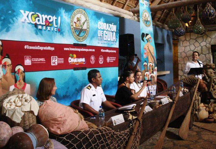 En conferencia se anunció la realización de la novena edición de la Travesía Sagrada Maya. (Octavio Martínez/SIPSE)