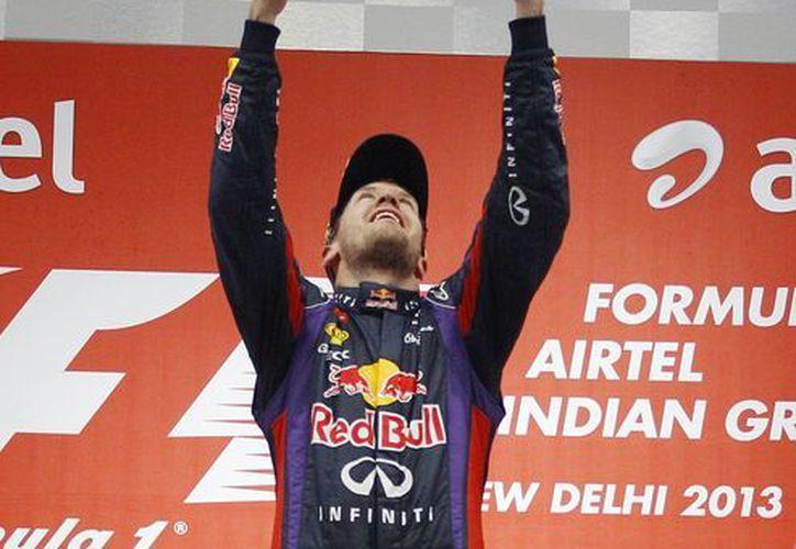 Vettel mostró una fuerza demoledora en toda la carrera. (Agencias)