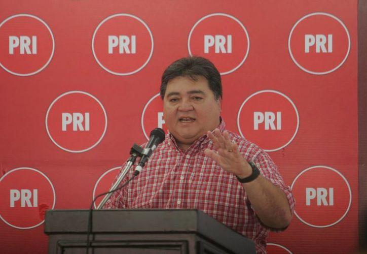 El dirigente estatal del PRI reconoció que las provocaciones de los representantes de los partidos de oposición subirán de tono. (Jorge Carrillo/SIPSE)