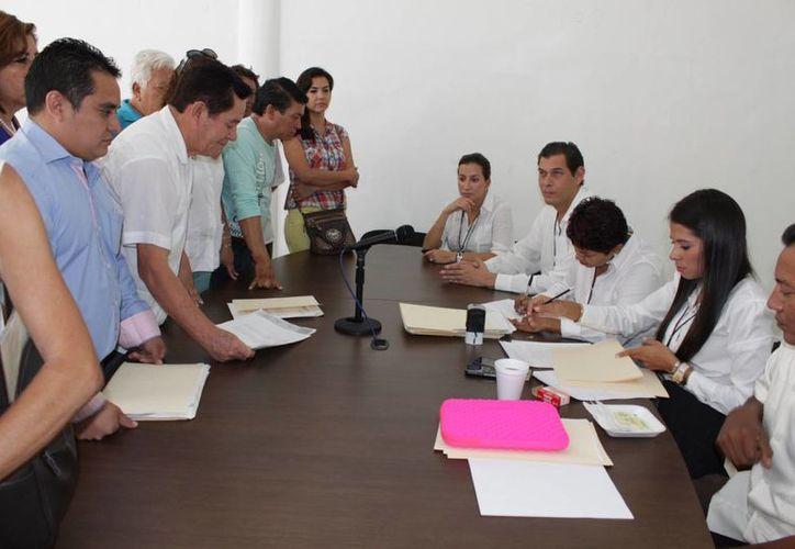 Inscripción de la planilla que encabeza Enrique Martínez Urrutia. (Adrián Barreto/SIPSE)