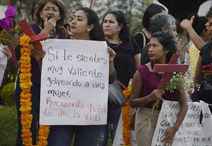 La declaratoria  de Alerta de Violencia de Género se hizo esta mañana en el palacio de gobierno. (Cuartooscuro).