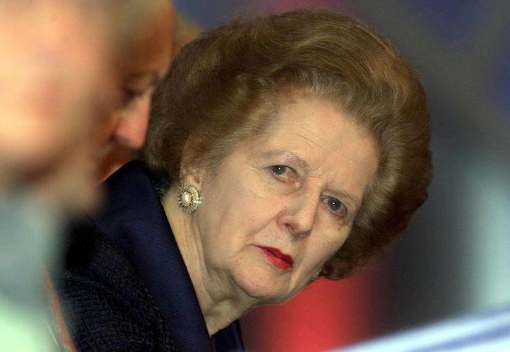 Margaret  Thatcher falleció el lunes de un derrame cerebral a los 87 años. (EFE)
