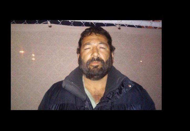 Raúl Beltrán Quintero fue detenido durante un operativo realizado en Puerto Lobos, Caborca. (Imagen difundida por la Policía Federal)