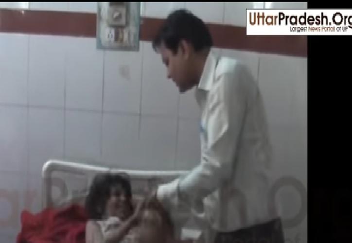 La niña fue encontrada en una reserva natural en el noroeste del estado de Uttar Pradesh. (Captura de pantalla).