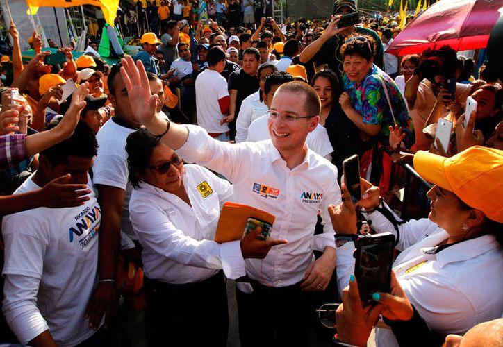 Ricardo Anaya dio a conocer que durante su gobierno cambiará la actual estrategia de seguridad. (Notimex)