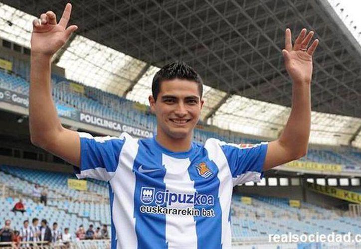 Gonzalo 'Chori' Castro, de la Real Sociedad, es uno de los nominados a recibir el premio Puskas al mejor gol del mundo. Compite con otros 10. (realsociedad.com)