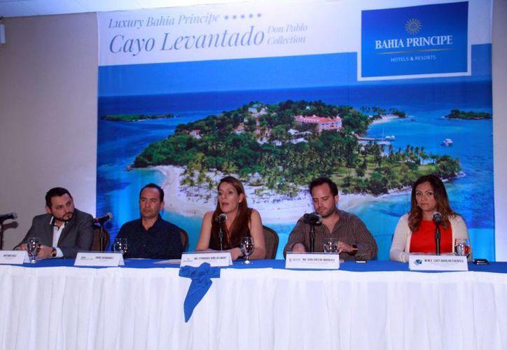 Los directivos de Bahía Príncipe (foto) anunciaron los nuevos vuelos  de Mérida a República Dominicana. (Jorge Acosta/Sipse)