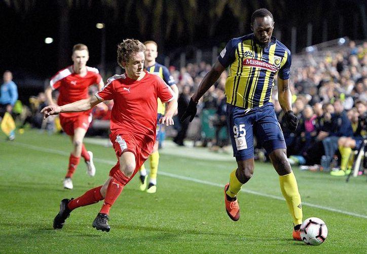 El jamaiquino Usain Bolt  cumplió su sueño de ser futbolista con los Mariners de Australia. (Vanguardia)