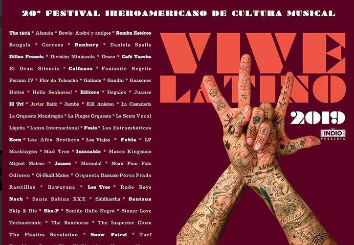La edición número 20 del festival se realizará el 16 y 17 de marzo en el Autódromo Hermanos Rodríguez. (Redacción)