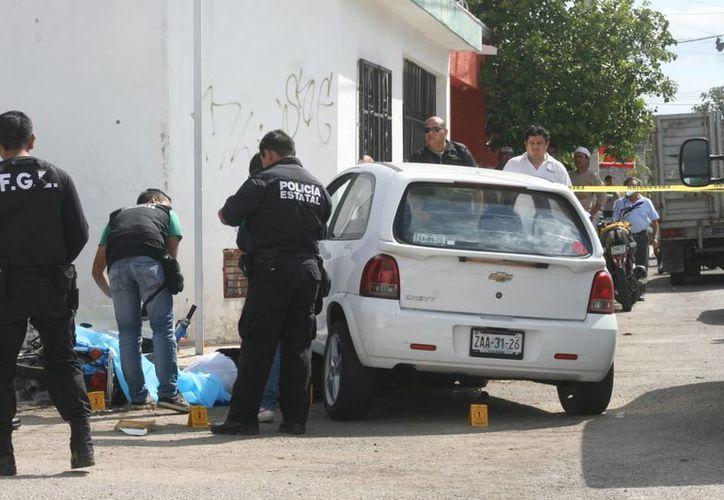 El trágico accidente ocurrió en la colonia Bojórquez. (Jorge Sosa/SIPSE)