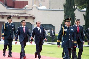 Marcial recepción a Francois Hollande