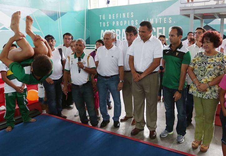 El Centro Acuático del Complejo Deportivo 'Kukulcán' ya tiene gimnasio seco. (Fotos: cortesía)